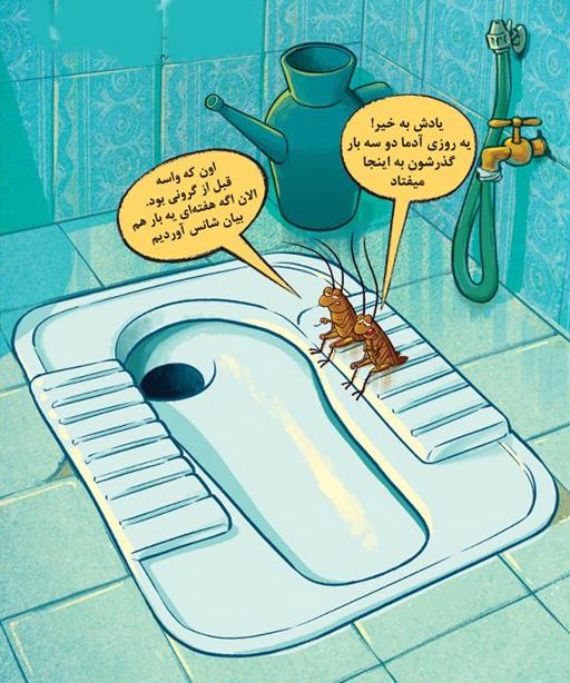 نسبت گرانی با دفعات دستشویی رفتن مردم
